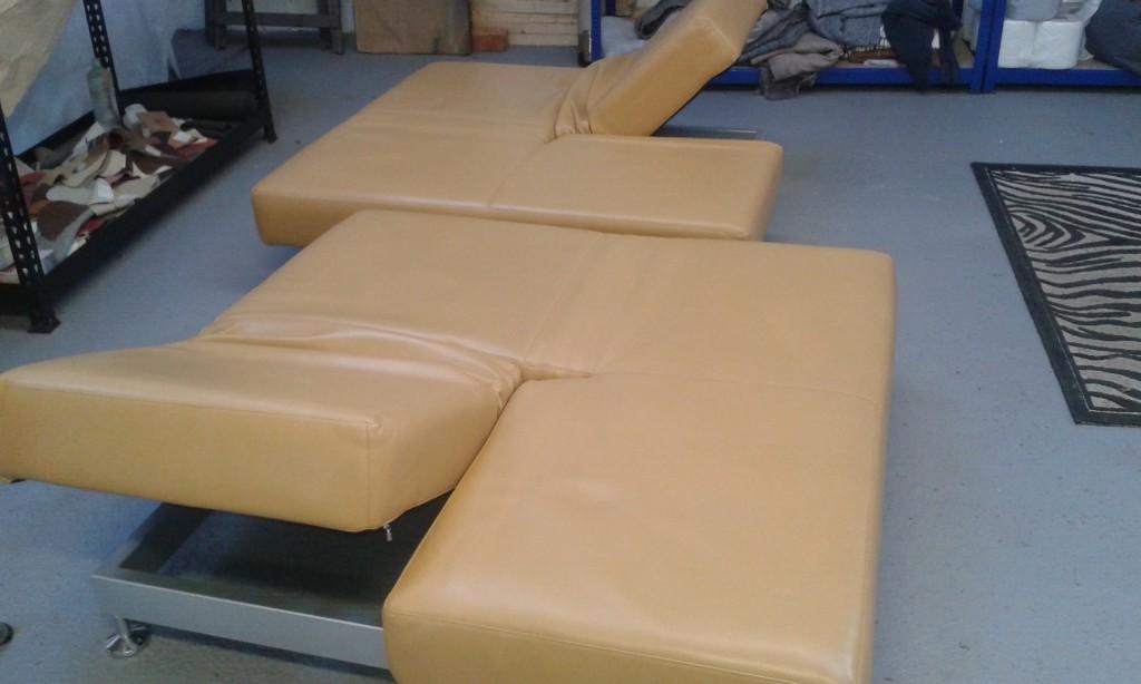 Tan Retro Sofa